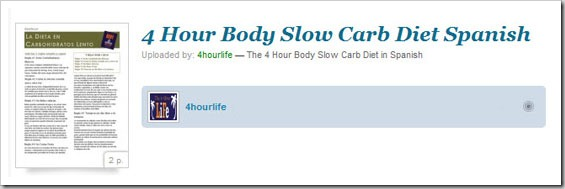 Slow Carb Diet Spanish Four Hour Body Cheat Sheets Tools, Tricks and Guides!