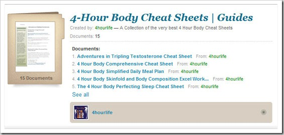 all cheat sheets thumb1 Four Hour Body Cheat Sheets Tools, Tricks and Guides!