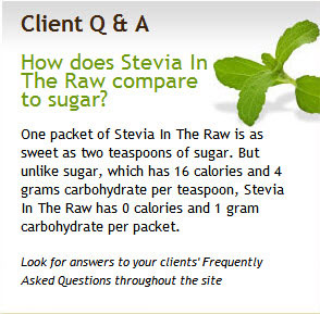 stevia in the raw Coconut Palm Sugar, Stevia and The 4 Hour Body Slow Carb Diet