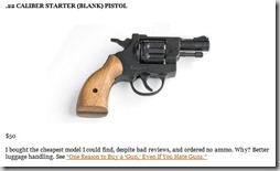 22 caliber starter blank pistol thumb The Ultimate 80/20 Guide To The 4 Hour Chef: Tools, Tricks, Cheats, Summaries and Tables