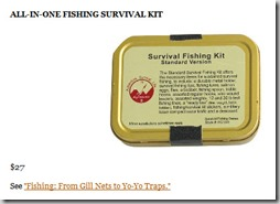 All In One Fishing Survival Kit thumb The Ultimate 80/20 Guide To The 4 Hour Chef: Tools, Tricks, Cheats, Summaries and Tables