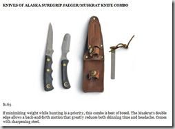 Knives of Alaska Suregrip Jaeger Muskrat Kinfe Combo thumb The Ultimate 80/20 Guide To The 4 Hour Chef: Tools, Tricks, Cheats, Summaries and Tables